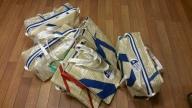 Bager produsert av gamle seil