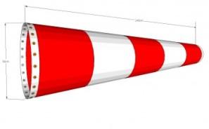 Vindpølser. Produseres på mål. Standardstørrelser er lagervare(60cmx240 og 50cmx180)