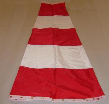 Vindpølse rød/hvit, kan levere i andre farger