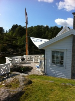 Solseil på hytte