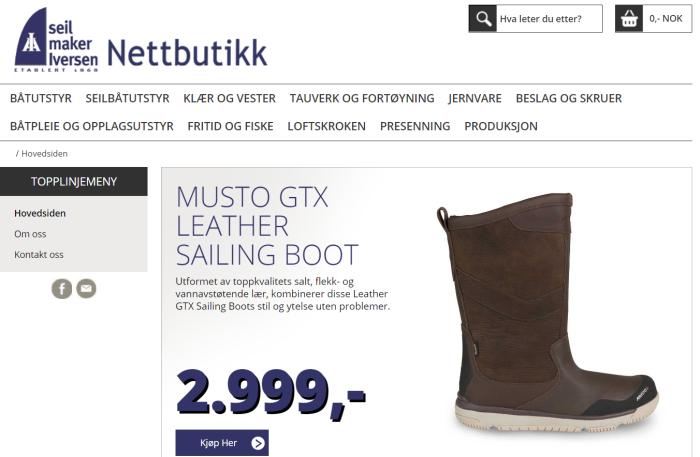 Blogg nettbutikk